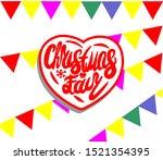 christmas fair vector lettering ...   Shutterstock .eps vector #1521354395