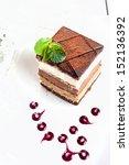 three layers cake | Shutterstock . vector #152136392