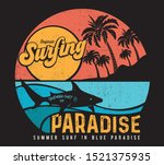 vector surf and paradise and... | Shutterstock .eps vector #1521375935