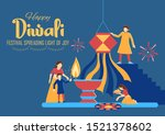 illustration of indian people... | Shutterstock .eps vector #1521378602