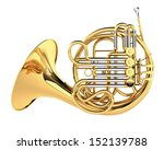 double french horn isolated | Shutterstock . vector #152139788