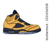 yellow sneakers vector design ... | Shutterstock .eps vector #1521416528