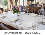 wedding banquet table with... | Shutterstock . vector #152142212