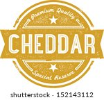 premium cheddar cheese label | Shutterstock .eps vector #152143112