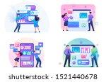 set flat 2d concepts online... | Shutterstock .eps vector #1521440678