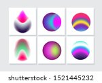 vibrant neon colorful abstract...   Shutterstock .eps vector #1521445232