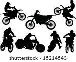 Illustration With Silhouettes...