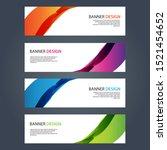 vector abstract design banner...   Shutterstock .eps vector #1521454652