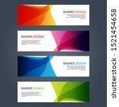 vector abstract design banner... | Shutterstock .eps vector #1521454658