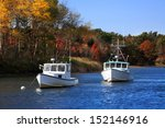 Lobster Boats At Rest On A...