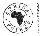 africa map postmark. silhouette ... | Shutterstock .eps vector #1521486245