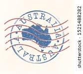 australia stamp postal. map...   Shutterstock .eps vector #1521488282