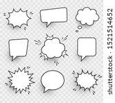 retro empty comic speech...   Shutterstock .eps vector #1521514652