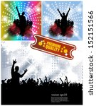 party people vector background | Shutterstock .eps vector #152151566