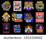 game design logo set collection ... | Shutterstock .eps vector #1521518402