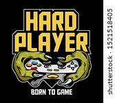 hard player gamer hands of... | Shutterstock .eps vector #1521518405