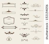 calligraphic design elements... | Shutterstock .eps vector #152154056