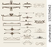 calligraphic design elements... | Shutterstock .eps vector #152154062