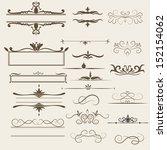 calligraphic design elements... | Shutterstock .eps vector #152154062