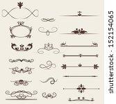 calligraphic design elements...   Shutterstock .eps vector #152154065