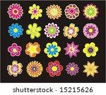 set of beautiful flower   Shutterstock .eps vector #15215626