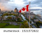 A Canadian Flag Flies High At...