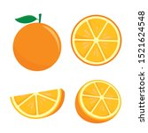 orange fruit vector... | Shutterstock .eps vector #1521624548