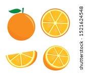 orange fruit vector... | Shutterstock .eps vector #1521624548