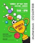 sports day poster invitation... | Shutterstock .eps vector #1521639308