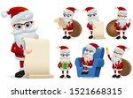 santa claus christmas... | Shutterstock .eps vector #1521668315