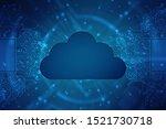 2d illustration of cloud... | Shutterstock . vector #1521730718