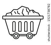 Mine Coal Wagon Icon. Outline...