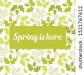 spring is here  text . doodle... | Shutterstock .eps vector #1521767612