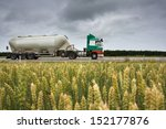 truck with bulk cargo | Shutterstock . vector #152177876