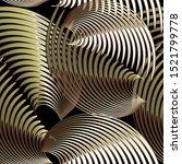gold green 3d abstract vector...   Shutterstock .eps vector #1521799778