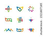 teamwork icon vector... | Shutterstock .eps vector #1521807185