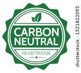 Carbon Neutral. Flat Vector...