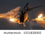 Military Helicopter Firing...