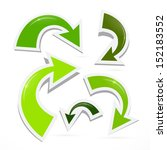 vector green arrows set... | Shutterstock .eps vector #152183552