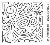 vector doodle arrows....   Shutterstock .eps vector #1521864878