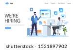 hiring and recruitment vector...