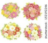 flower set | Shutterstock .eps vector #152192246
