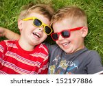 smiling brothers | Shutterstock . vector #152197886