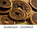 Antique Chinese Coins On A...