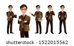 elegant business people with...   Shutterstock .eps vector #1522015562