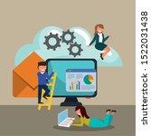 business statistics design ... | Shutterstock .eps vector #1522031438