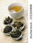 different sorts of green tea... | Shutterstock . vector #152204888