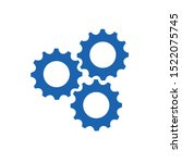 gears machinery with teamwork... | Shutterstock .eps vector #1522075745