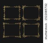 set of hand drawn golden... | Shutterstock .eps vector #1522085732