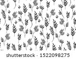 hand drawn botanical floral... | Shutterstock .eps vector #1522098275